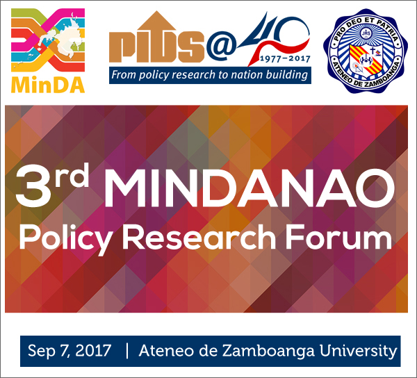 3rd Mindanao Policy Research Forum (Federalism as Policy Option for a Decentralized Inclusive Development: A Critical Inquiry)